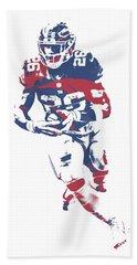 Saquon Barkley New York Giants Pixel Art 11 Bath Towel