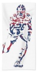 Saquon Barkley New York Giants Pixel Art 150 Bath Towel
