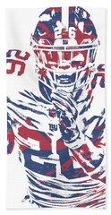 Saquon Barkley New York Giants Pixel Art 151 Bath Towel
