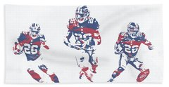 Saquon Barkley New York Giants Pixel Art 26 Bath Towel