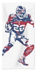 Saquon Barkley New York Giants Pixel Art 5 Bath Towel