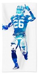 Saquon Barkley New York Giants Water Color Pixel Art 10 Bath Towel