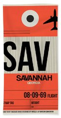 Sav Savannah Luggage Tag I Bath Towel