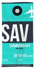 Sav Savannah Luggage Tag II Bath Towel