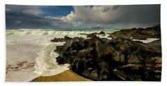 Scarista Beach Digital Painting Hand Towel
