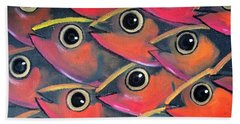 School Of Eyes Hand Towel