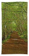 Scotland. Killiecrankie. Path Through The Trees. Bath Towel