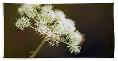 Scotland. Loch Rannoch. White Flowerhead. Bath Towel