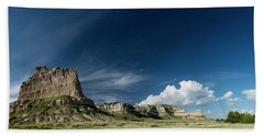 Scottsbluff National Monument In Nebraska Panorama Bath Towel