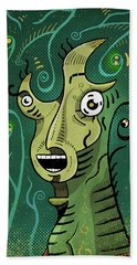 Bath Towel featuring the digital art Scream by Sotuland Art