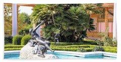 Sculptured Pool Side Getty Villa Bath Towel