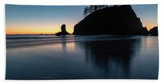 Sea Stack Silhouette Hand Towel