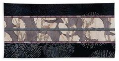Sea Urchin Contrast Obi Print Hand Towel