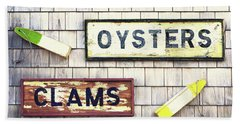 Seafood Signs Bath Towel