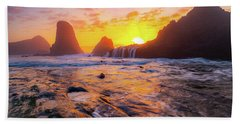 Seal Rock Beach Sunset Bath Towel