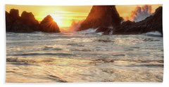 Bath Towel featuring the photograph Seal Rock  by Russell Pugh