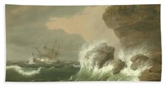 Seascape, 1835 Hand Towel