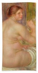 Seated Nude, The Pregnant Woman  Hand Towel