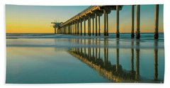 Serenity Scripps Pier La Jolla San Diego Hand Towel