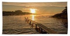 Sespanyol Beach In Ibiza At Sunrise, Balearic Islands Hand Towel