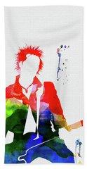 Sex Pistols Watercolor Hand Towel