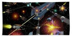 Sferogyls Space Battle Group Bath Towel