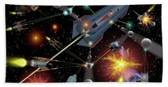 Sferogyls Space Battle Group Bath Towel