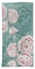 Shabby Chic Roses Distressed Bath Towel