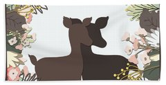 Shadowbox Deer Bath Towel