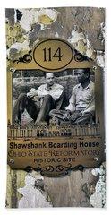 Shawshank Marker At Ohio State Reformatory Mansfield Ohio  1384cc Bath Towel