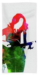 Sheryl Crow Watercolor Bath Towel