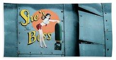 She's The Boss, World War 2 Navy Avenger Torpedo Bomber Hand Towel