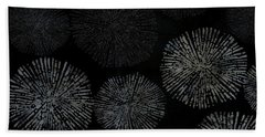 Shibori Sea Urchin Burst Pattern Bath Towel