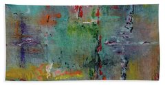 Hand Towel featuring the painting Shimmering by Karen Fleschler