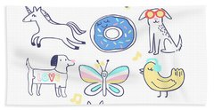 Shine Bright - Baby Room Nursery Art Poster Print Hand Towel