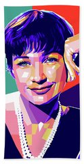 Shirley Maclaine Pop Art Bath Towel