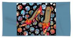Shoes By Joan - Frangipani Pattern Pumps Hand Towel