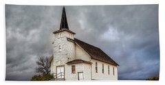 Shuttered Church In Cartwright North Dakota Hand Towel