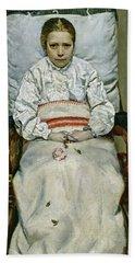 Sick Girl, 1881 Bath Towel