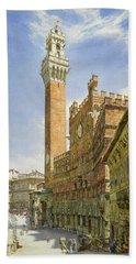 Siena, The Palazzo Publico, Town Hall Bath Towel