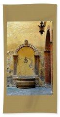 Sienna Fountain Courtyard Hand Towel