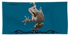 Sierran Tree Frog Pseudacris Sierra Hand Towel