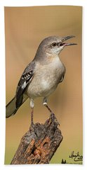 Singing Mockingbird Hand Towel