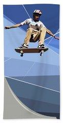 Skateboarder Hand Towel