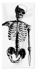 Skeleton Study Hand Towel
