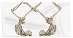Skeleton Yoga 002 Hand Towel
