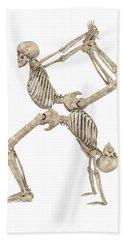 Skeleton Yoga 003 Hand Towel