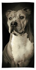 Sketch Of Noble Pit Bull Hand Towel