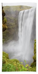 Bath Towel featuring the photograph Skogafoss Iceland by Nathan Bush