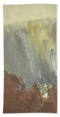 Skogklaedd Fjaellvaegg I Hoestdimma- Mountain Side In Autumn Mist, Saelen _1237, 90x120 Cm Bath Towel